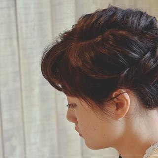 ボブ 簡単ヘアアレンジ 結婚式 ショート ヘアスタイルや髪型の写真・画像
