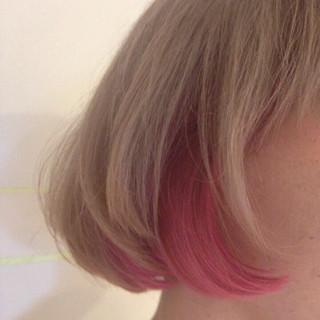ブリーチ 原宿系 ガーリー ボブ ヘアスタイルや髪型の写真・画像
