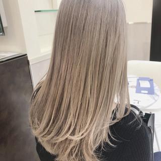 グラデーションカラー ハイトーンカラー ハイライト ストリート ヘアスタイルや髪型の写真・画像