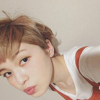 ミルクティー ベリーショート 前髪あり ヘアアレンジ ヘアスタイルや髪型の写真・画像 ヘアスタイルや髪型の写真・画像