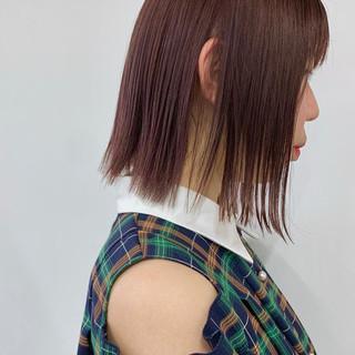 ミニボブ 切りっぱなしボブ ストリート ハイトーンカラー ヘアスタイルや髪型の写真・画像