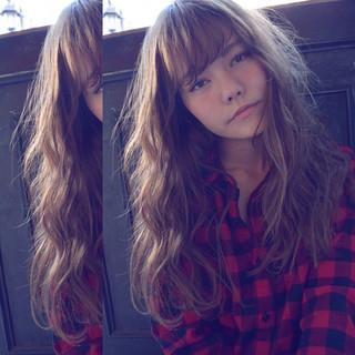外国人風 大人かわいい ゆるふわ セミロング ヘアスタイルや髪型の写真・画像