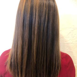 ガーリー バレイヤージュ セミロング ブリーチオンカラー ヘアスタイルや髪型の写真・画像