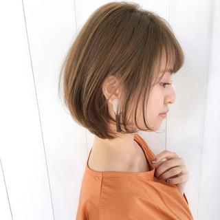 オフィス ショート ロブ 簡単ヘアアレンジ ヘアスタイルや髪型の写真・画像
