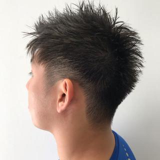 毛束感 メンズショート メンズカット ナチュラル ヘアスタイルや髪型の写真・画像