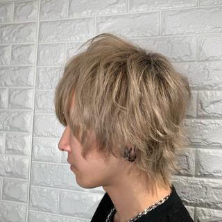 メンズカット ブリーチ ストリート ミルクティーベージュ ヘアスタイルや髪型の写真・画像