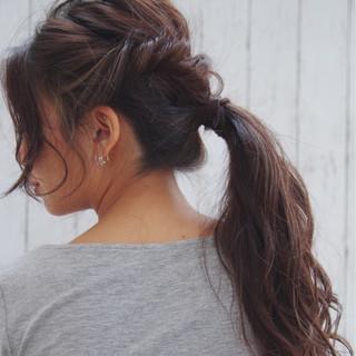 ヘアアレンジ ポニーテール 簡単ヘアアレンジ フェミニン ヘアスタイルや髪型の写真・画像 ヘアスタイルや髪型の写真・画像