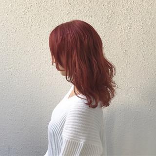 ダブルカラー ミディアム 外国人風カラー ブリーチ ヘアスタイルや髪型の写真・画像