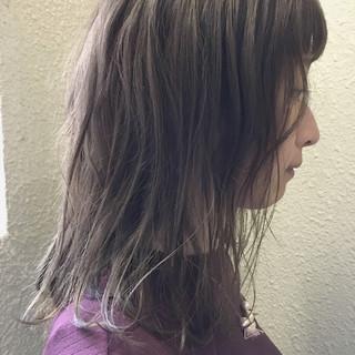 ナチュラル ミディアム 女子会 アッシュ ヘアスタイルや髪型の写真・画像