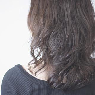 マット マットグレージュ ナチュラル ロング ヘアスタイルや髪型の写真・画像