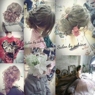 結婚式 大人女子 セミロング デート ヘアスタイルや髪型の写真・画像