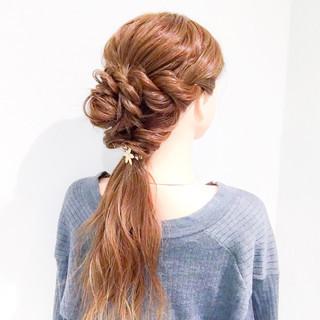 ロング 大人女子 アウトドア 簡単ヘアアレンジ ヘアスタイルや髪型の写真・画像