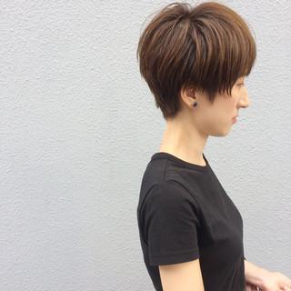 ショート リラックス デート マッシュ ヘアスタイルや髪型の写真・画像