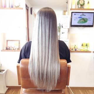 バレイヤージュ 成人式 メッシュ 外国人風カラー ヘアスタイルや髪型の写真・画像