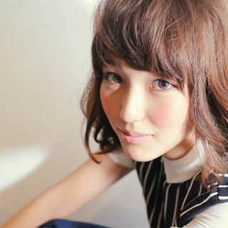 こなれ感 ミディアム 小顔 大人女子 ヘアスタイルや髪型の写真・画像
