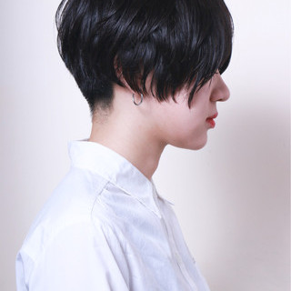 モード 刈り上げ ベリーショート 大人女子 ヘアスタイルや髪型の写真・画像