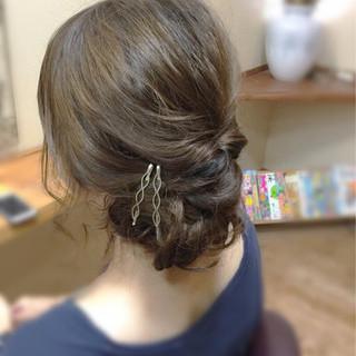 ルーズ 結婚式 ヘアアレンジ ショート ヘアスタイルや髪型の写真・画像