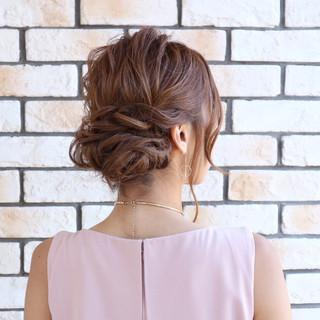 フェミニン ゆるふわ ロング 編み込み ヘアスタイルや髪型の写真・画像
