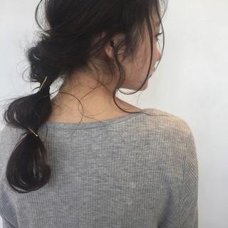 フェミニン ヘアアレンジ 簡単ヘアアレンジ ゆるふわ ヘアスタイルや髪型の写真・画像 ヘアスタイルや髪型の写真・画像