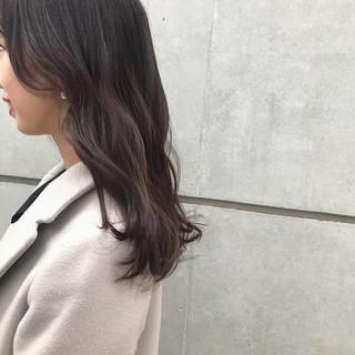 セミロング ベージュ オーガニック ナチュラル ヘアスタイルや髪型の写真・画像