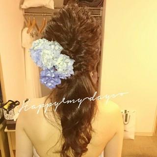 ヘアアレンジ ブライダル ロング 結婚式 ヘアスタイルや髪型の写真・画像