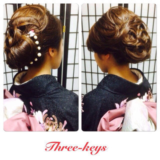 ロング ヘアアレンジ 着物 和服 ヘアスタイルや髪型の写真・画像 ヘアスタイルや髪型の写真・画像