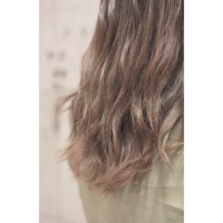 ゆるふわ イルミナカラー グラデーションカラー ブラウン ヘアスタイルや髪型の写真・画像