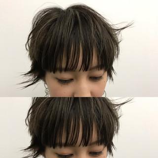 マッシュ モード マッシュショート ハイライト ヘアスタイルや髪型の写真・画像