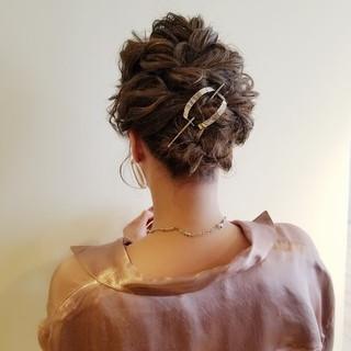 結婚式ヘアアレンジ ボブ フェミニン 結婚式 ヘアスタイルや髪型の写真・画像