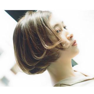 モテボブ ミニボブ アンニュイ ナチュラル ヘアスタイルや髪型の写真・画像