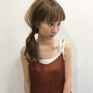 ミディアム アンニュイ 女子会 簡単ヘアアレンジ ヘアスタイルや髪型の写真・画像
