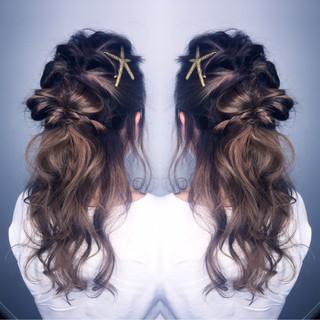 簡単ヘアアレンジ ハーフアップ ショート 大人女子 ヘアスタイルや髪型の写真・画像