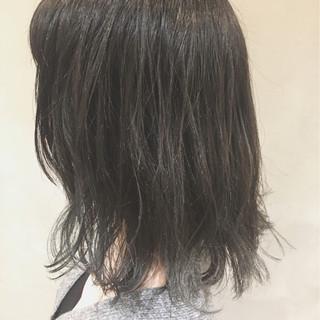 外国人風 ハイライト アッシュ ボブ ヘアスタイルや髪型の写真・画像