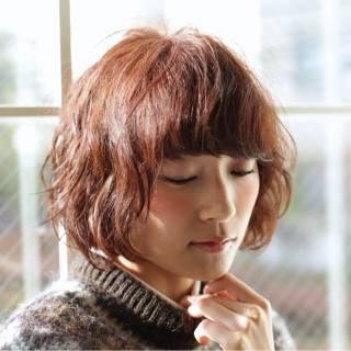 パーマ ナチュラル モテ髪 ショート ヘアスタイルや髪型の写真・画像 ヘアスタイルや髪型の写真・画像