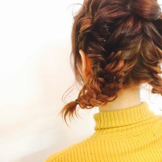 ボブ グラデーションカラー アッシュ ヘアアレンジ ヘアスタイルや髪型の写真・画像