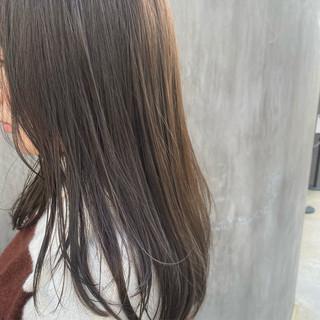 ナチュラル ミニボブ 極細ハイライト ロング ヘアスタイルや髪型の写真・画像