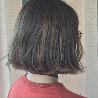 ハイライト 秋 外国人風 ボブ ヘアスタイルや髪型の写真・画像 ヘアスタイルや髪型の写真・画像
