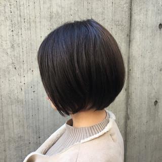 デート ボブ 大人かわいい 黒髪 ヘアスタイルや髪型の写真・画像
