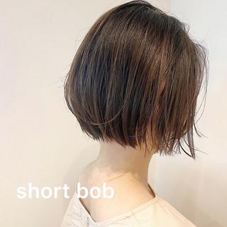 大人カジュアル ショート 大人可愛い ミニボブ ヘアスタイルや髪型の写真・画像