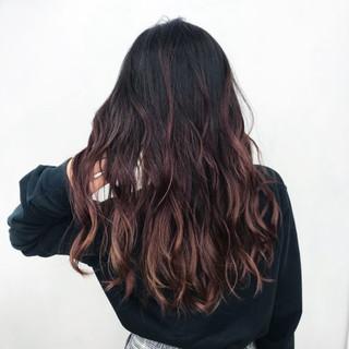 バレイヤージュ ヘアアレンジ 外国人風カラー ロング ヘアスタイルや髪型の写真・画像