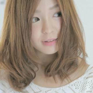 大人かわいい モテ髪 コンサバ ミディアム ヘアスタイルや髪型の写真・画像