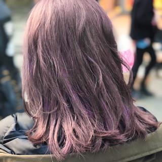 ブリーチ 謝恩会 ピンク ストリート ヘアスタイルや髪型の写真・画像
