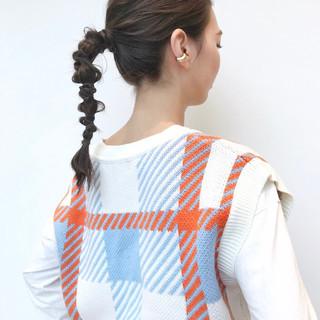 トレンド ロング モード ヘアアレンジ ヘアスタイルや髪型の写真・画像