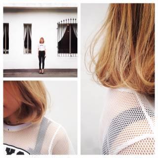 ストリート モテ髪 ナチュラル グラデーションカラー ヘアスタイルや髪型の写真・画像