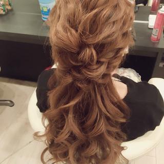 ロング 結婚式 大人かわいい ヘアアレンジ ヘアスタイルや髪型の写真・画像 ヘアスタイルや髪型の写真・画像