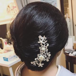 和装 上品 結婚式 ヘアアレンジ ヘアスタイルや髪型の写真・画像 ヘアスタイルや髪型の写真・画像