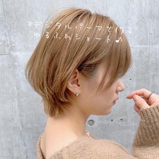 ショートヘア 切りっぱなしボブ ベリーショート ショートボブ ヘアスタイルや髪型の写真・画像