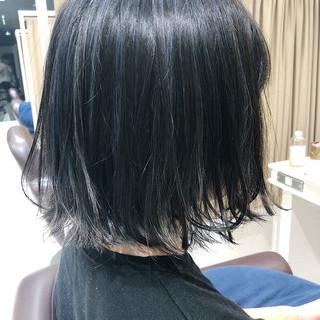 外国人風カラー ボブ バレイヤージュ ストリート ヘアスタイルや髪型の写真・画像