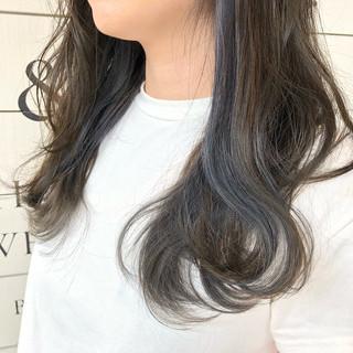 切りっぱなし セミロング ストリート ボブ ヘアスタイルや髪型の写真・画像