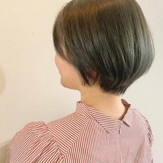ナチュラル ショートヘア ショートボブ 大人かわいい ヘアスタイルや髪型の写真・画像